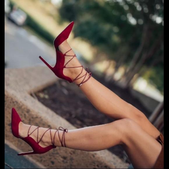 4b75f9e5d14780 Sam Edelman Helaine Red Lace up Tie Pumps 8